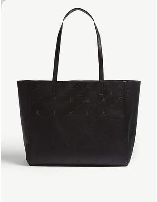 Stella McCartney Logo faux-leather tote
