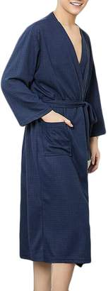 ed5be093bd +Hotel by K-bros Co UUYUK-Men Lightweight Sleepwear Hotel Spa Bathrobe Knit  Nightwear