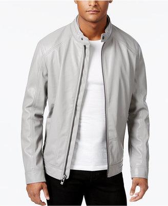Calvin Klein Men's Faux-Leather Moto Jacket $225 thestylecure.com