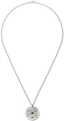 De Beers 18kt white gold Talisman Medal diamond pendant necklace