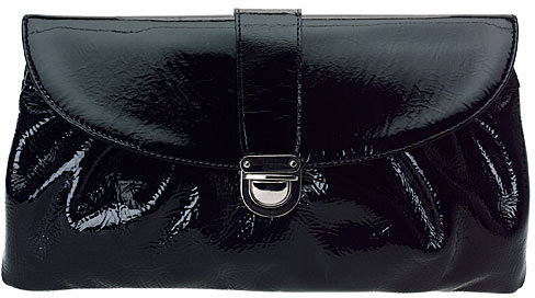 Nine West Leather Snake Clutch