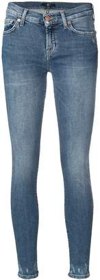 7 For All Mankind distressed leg skinny jeans