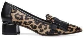 Franco Sarto Grenoble Leopard-Print Calf-Hair Pumps