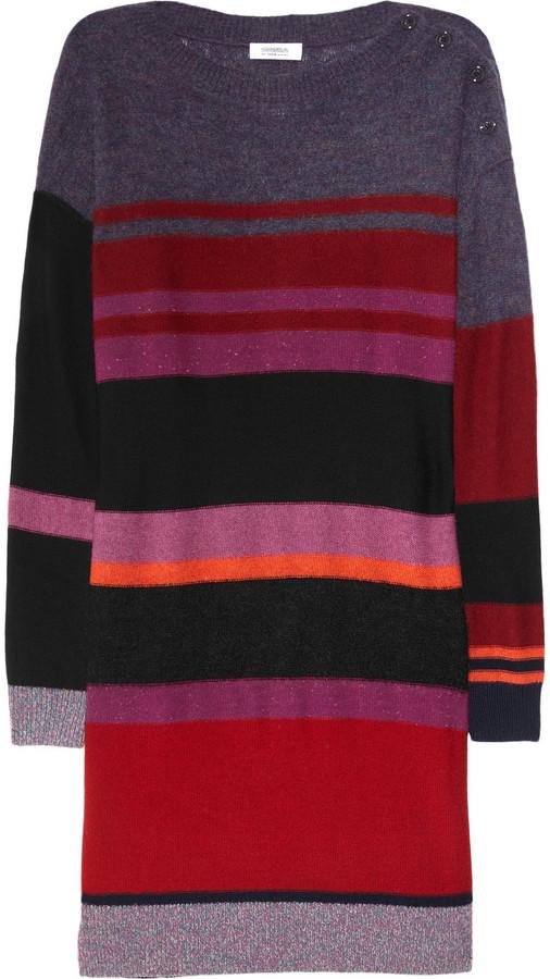 Sonia by Sonia Rykiel Striped wool-blend sweater dress