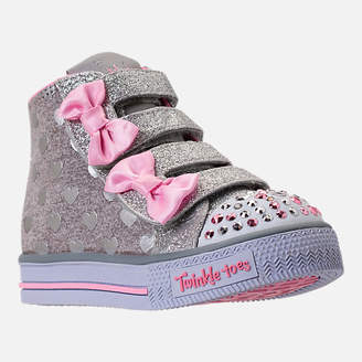 Skechers Girls' Toddler Twinkle Toes: Shuffles - Doodle Days Light-Up Casual Shoes