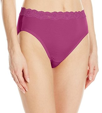 Olga Women's Without a Stitch Lace Hi-Cut Brief Panty $10.02 thestylecure.com