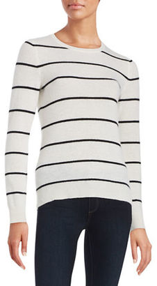 Lord & Taylor Striped Cashmere Sweater $160 thestylecure.com