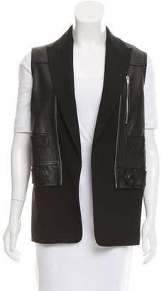 Alexander Wang Leather Open Front Vest