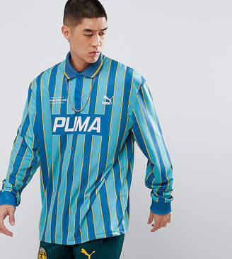 Puma Retro Soccer Jersey In Blue Exclusive To ASOS