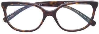 Bulgari tortoiseshell square glasses