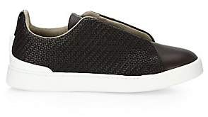 Ermenegildo Zegna Men s Triple Stitch Woven Leather Sneakers 0ecd240ef11
