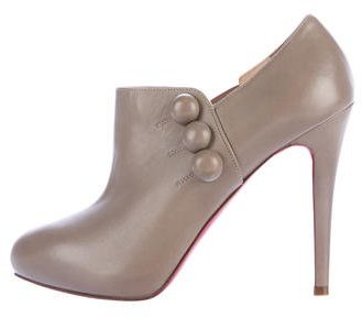 Christian Louboutin Christian Louboutin Leather Pointed-Toe Booties