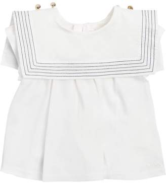 Chloé Sailor Collar Cotton Jersey T-Shirt