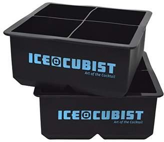 Giant Square 2.5 Inch Whiskey Ice Cube Freezer Trays - Double Extra Large Ice Cubes - 2 Tray Pack