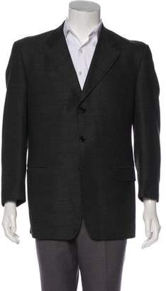 Luciano Barbera Deconstructed Patterned Wool Blazer