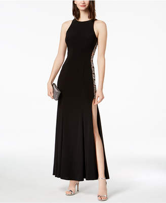 Xscape Evenings Beaded Cutout-Side Gown