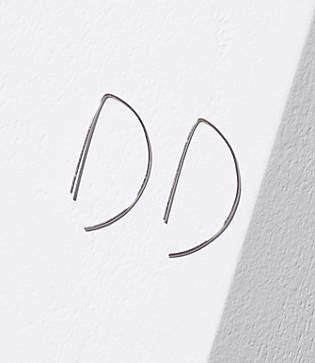 LOFT Geometric Pull Through Hoop Earrings