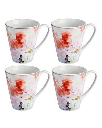 Fashion World Blossom Set of 4 Mugs