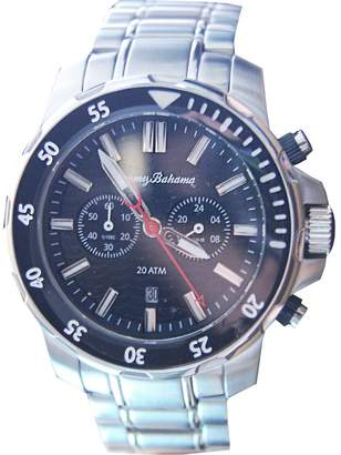Tommy Bahama RELAX Men's 10024741 Island Diver (Air) Analog Display Japanese Quartz Silver Watch