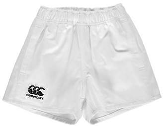 Canterbury of New Zealand Kids Boys Pro Rugby Shorts Junior Pants Trousers Bottoms Cotton