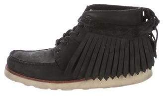 Sebago Ronnie Fieg x Leather Fringe Ankle Boots