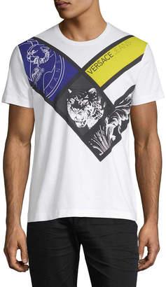 Versace Geometric Tiger T-Shirt