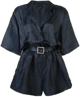 Cynthia Rowley belted short playsuit