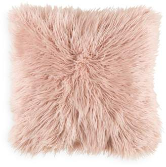 "Surya Faux Fur Throw Pillow, 20"" x 20"""