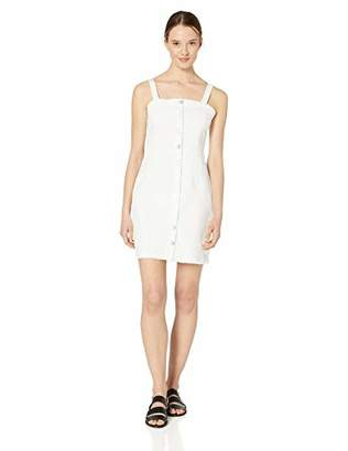 Volcom Junior's Women's Vol Stone Button Up Denim Dress