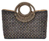 ANTIK KRAFT Woven Straw Satchel