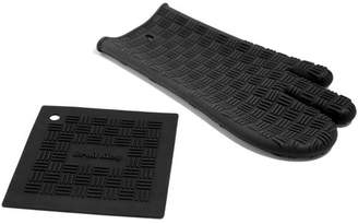 Broil King Silicone 2-Piece Oven Mitt and Trivet Set