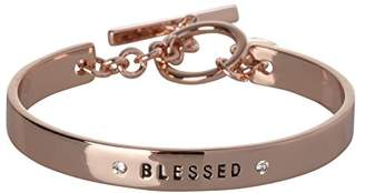 BCBGeneration BCBG Generation Rose Gold Crystal Blessed Cuff Bracelet