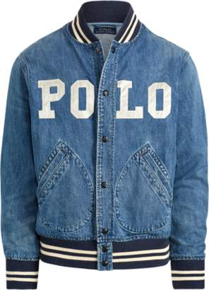 Ralph Lauren Varsity-Inspired Denim Jacket