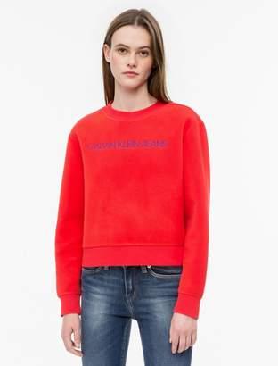 Calvin Klein fleece logo crewneck sweatshirt