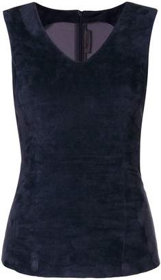Drome sleeveless v-neck blouse