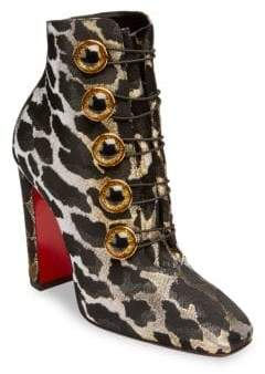 Christian Louboutin Lady See 100 Lurex Feline Booties