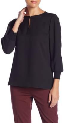 Lafayette 148 New York Kelsey Slit Sleeve Silk Blouse (Petite)