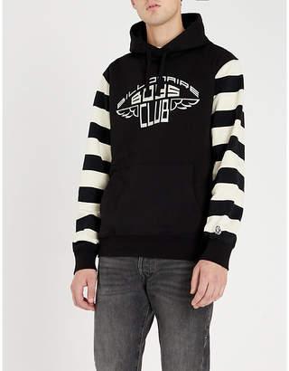 Billionaire Boys Club Striped logo-print cotton-jersey hoody