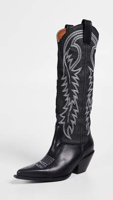 R 13 Mid Straight Cowboy Boots