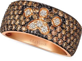LeVian Le Vian Chocolate & Nude Diamond Paw Print Ring (2-1/3 ct. t.w.) in 14k Rose Gold