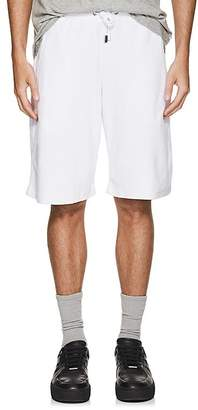 Blood Brother MEN'S TOXO COTTON-BLEND VELOUR TRACK SHORTS