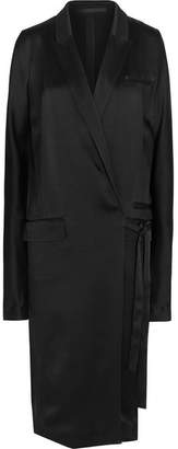 Haider Ackermann - Belted Satin Coat - Black $1,510 thestylecure.com
