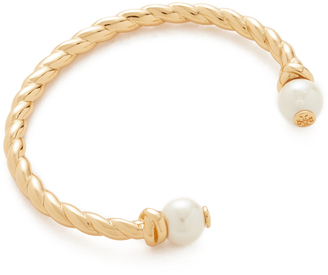 Tory Burch Rope Logo Bead Hinge Bracelet $148 thestylecure.com