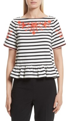 Women's Kate Spade New York Embroidered Tee $128 thestylecure.com
