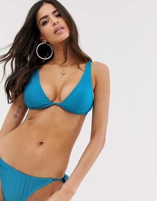 South Beach monowire halter top bikini set
