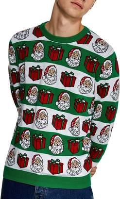Topman Christmas Santa Crewneck Sweater