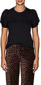 A.L.C. Women's Kati Cotton Puff-Sleeve T-Shirt - Black