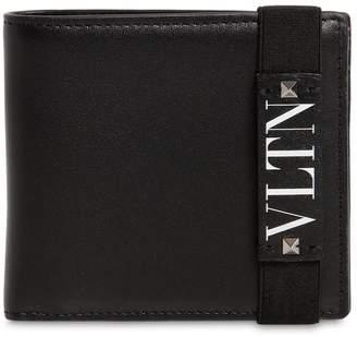Valentino Vltn Logo Leather Billfold Wallet