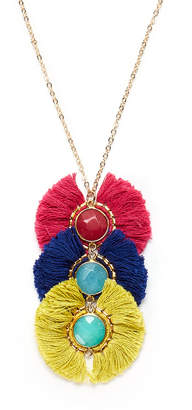 Panacea Pannee By Stacked Tassel Pendant Necklace