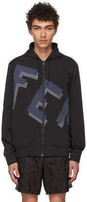 Fendi Black and Navy Vocabulary Jacket